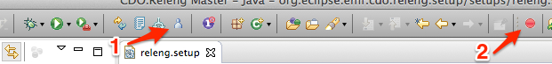 Eclipse Toolbar with Oomph buttons